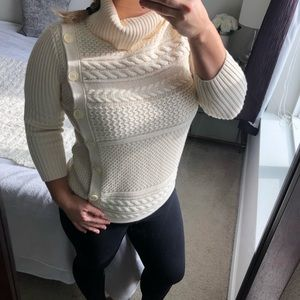 Banana republic side button cable knit sweater